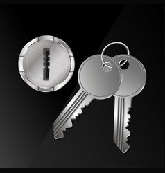 keys and keyhole vector image