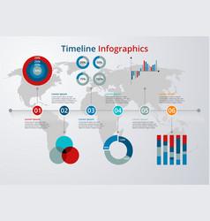 timeline flat design vector image