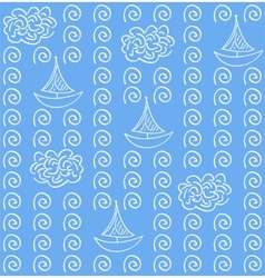 Watercolor blue color seamless pattern vector image