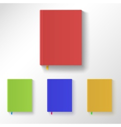 Book with color covers and bookmarks vector image