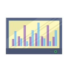 Interactive Whiteboard with Infographics vector image