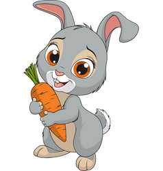little funny bunny vector image vector image