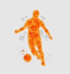 Soccer football player vector image