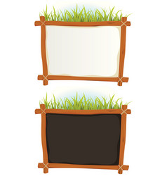 wood frame with sign vector image