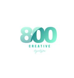 800 green pastel gradient number numeral digit vector