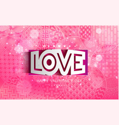 abstract shape lettering love vector image