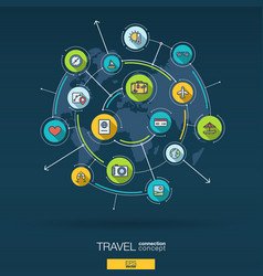 abstract travel and tourism background digital vector image