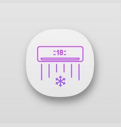 Air conditioner app icon vector
