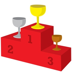 Award podium vector