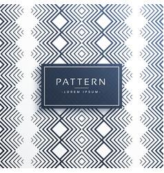 Aztec line pattern design vector