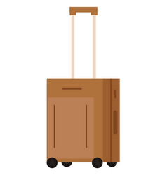 baggage or luggage suitcase on wheels tourism vector image