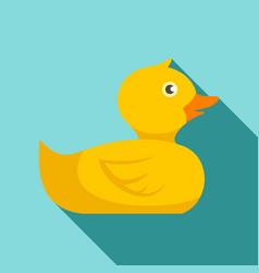 bathroom duck icon flat style vector image