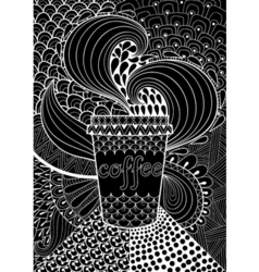 Black Coffee patterned background for adult vector image