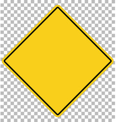 blank yellow sign empty yellow symbol on vector image