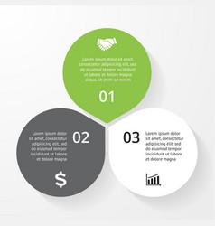 Business circle infographic diagram presentation 3 vector