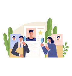 business human resources hr manager team hire vector image