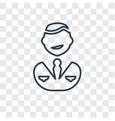 businessman concept linear icon isolated on vector image