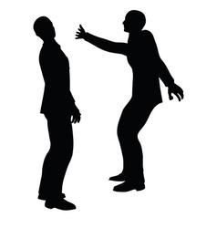Businessman slap vector