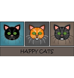 Cartoon cat header vector