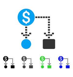 cashflow scheme flat icon vector image