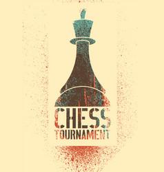 chess tournament stencil spray grunge poster vector image