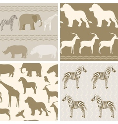 collection african animals patterns vector image