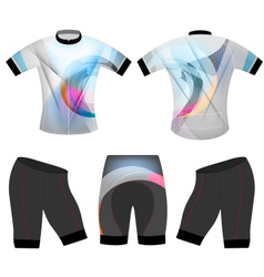 Colorful sports t shirt vector