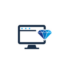 computer diamond logo icon design vector image