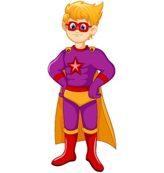 Cute Superhero cartoon standing vector
