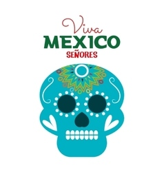 Day of dead skull mexico festive design vector