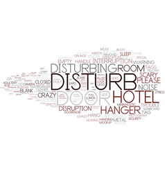 Disturbing word cloud concept vector