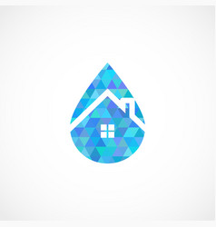 Drop house vector