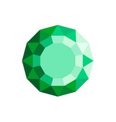 emerald diamond icon flat style vector image
