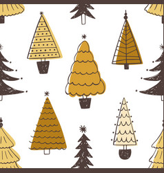 festive seamless pattern with various christmas vector image