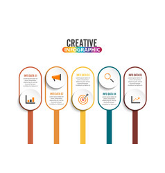 five steps infographics - can a strategy vector image