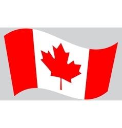 Flag canada waving vector