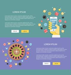 flat design casino online concepts vector image