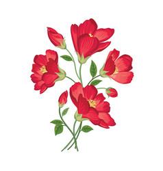 Flower bouquet floral frame flourish greeting card vector
