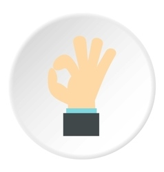 Gesture okay icon flat style vector