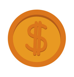 gold coin dollar money currency icon vector image