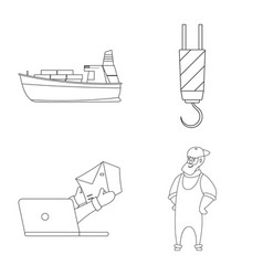 goods and cargo logo set vector image