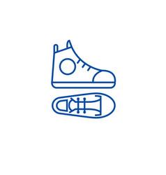 Gumshoes line icon concept gumshoes flat vector