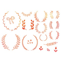 Hand drawn doodle design elements vector image