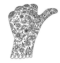 hand zen tangle vector image