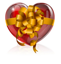 Heart bow gift concept vector