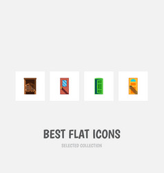 Icon flat approach set of entrance western wooden vector