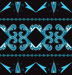Indigo ethnic victorian ornament seamless vector