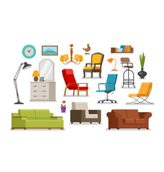 Interior furnishings furniture store concept vector