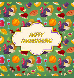 invitation card for thanksgiving day vector image