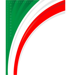 Italian flag corner frame background vector